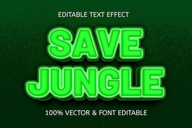Bewaar jungle kleur groen bewerkbaar teksteffect