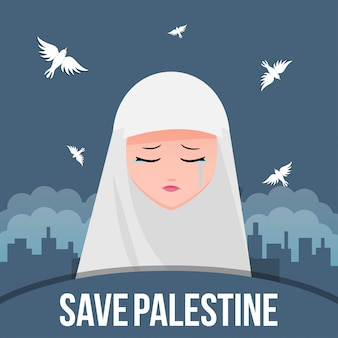 Bewaar palestijnse illustratie