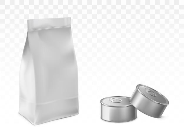 Bewaarde huisdier, babyvoeding verpakking vector set