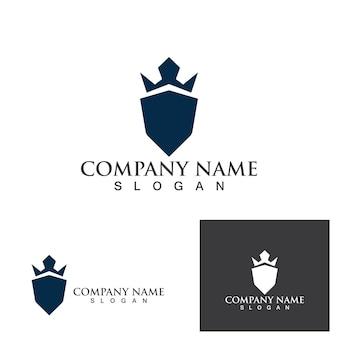 Bewaker logo ontwerp vector schild sjabloon