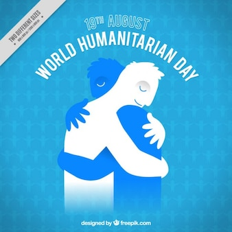 Bewegende humanitaire dag achtergrond
