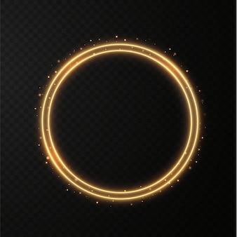 Beweging lichtlijnen bewegen in een cirkel verlichtingsapparatuur voor reclamefolders banners
