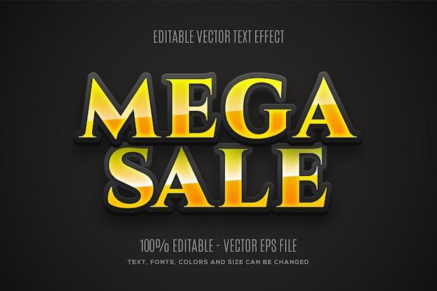 Bewerkbaar 3d mega sale-teksteffect eenvoudig te wijzigen of te bewerken