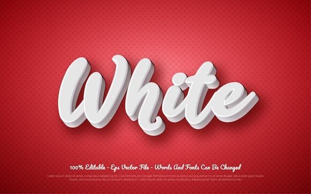 Bewerkbaar 3d teksteffect witte stijlillustraties
