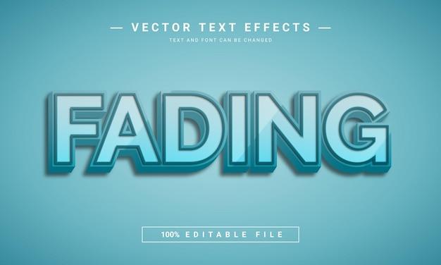 Bewerkbaar 3d-teksteffectontwerp vervagen
