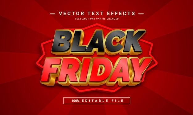 Bewerkbaar black friday 3d-teksteffect