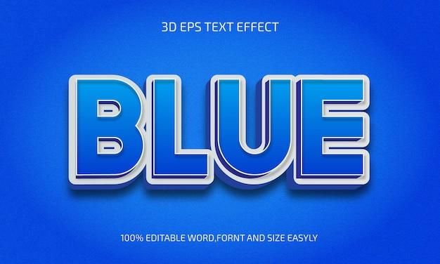 Bewerkbaar blauw 3d-tekststijleffect