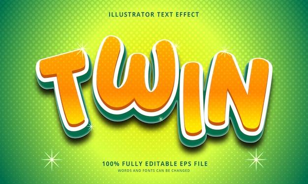 Bewerkbaar eps-bestand met dubbel teksteffect