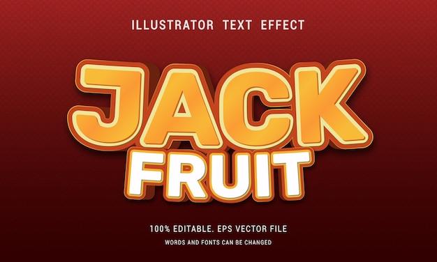 Bewerkbaar jack fruit-teksteffect