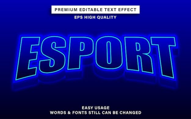 Bewerkbaar lettertype-effect esport