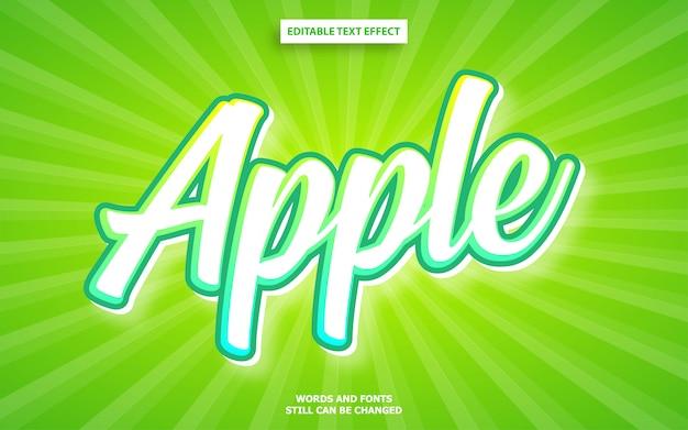 Bewerkbaar lettertype-effect in apple-kleuren