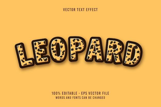 Bewerkbaar lettertype-effect in leopard-tekst