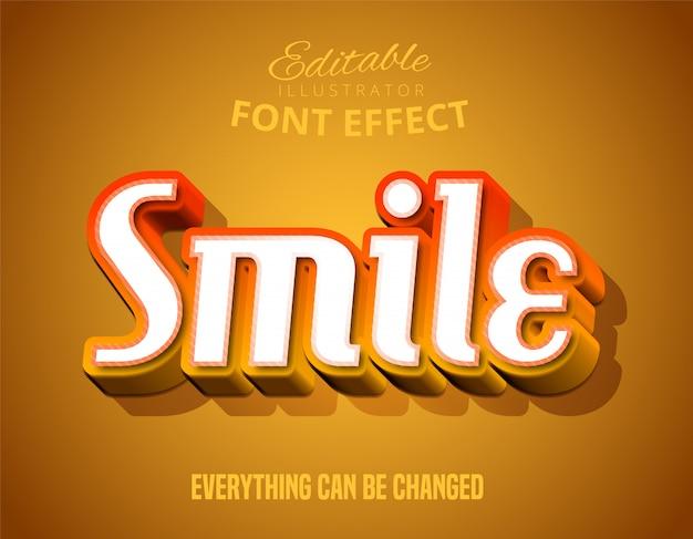 Bewerkbaar lettertype-effect in moderne scriptstijl