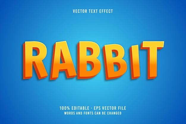 Bewerkbaar lettertype-effect voor konijnentekst