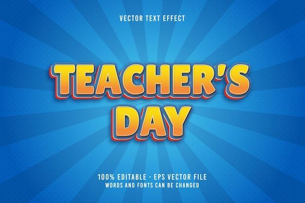 Bewerkbaar lettertype-effect voor lerarendag