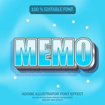 Bewerkbaar lettertype-effect