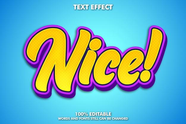 Bewerkbaar modern lettertype-effect, typografie in jeugdstijl
