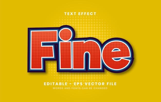 Bewerkbaar modern rood textuur teksteffect voor sticker enz