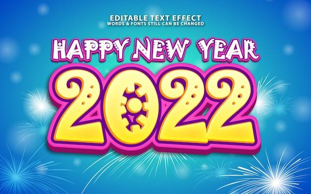 Bewerkbaar nieuwjaarsteksteffect