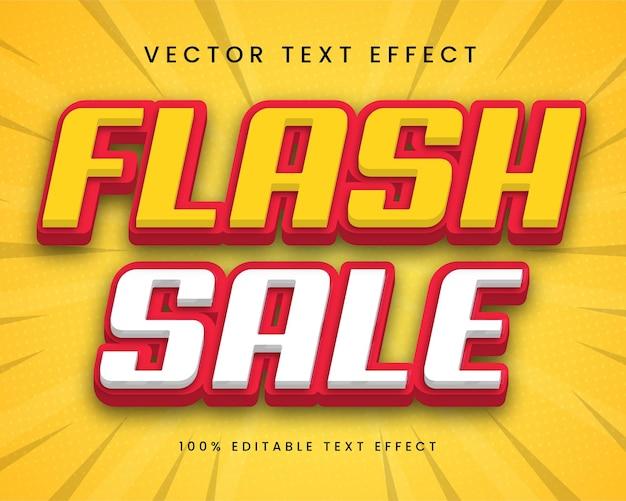 Bewerkbaar premium 3d-teksteffect in flash sale