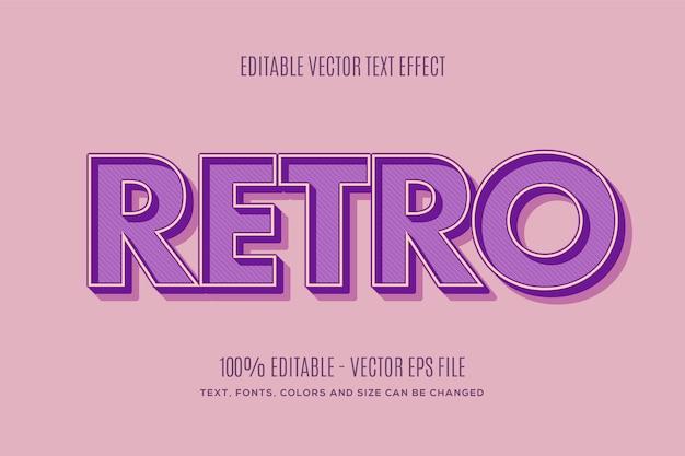 Bewerkbaar retro-teksteffect eenvoudig te wijzigen of te bewerken
