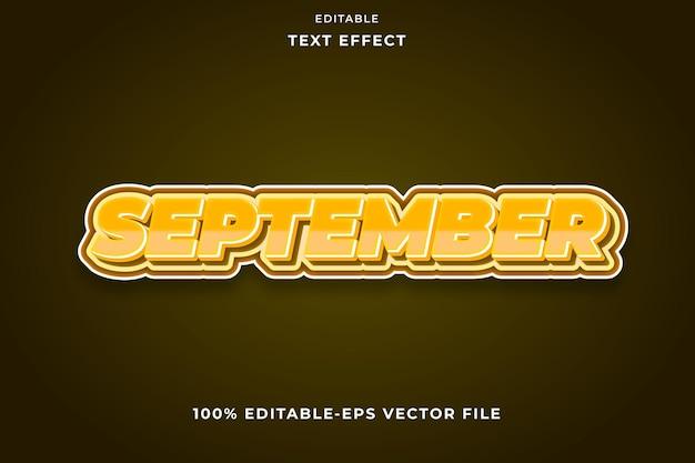 Bewerkbaar tekst effect moderne stijl september