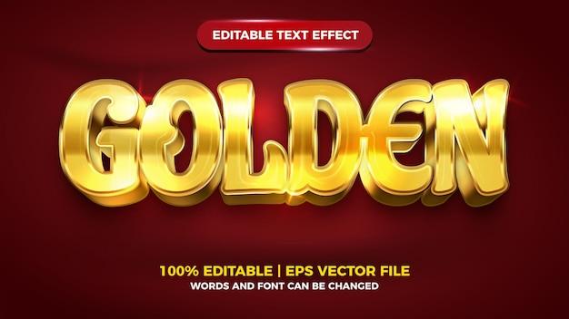 Bewerkbaar teksteffect - 3d-sjabloon in gouden luxe stijl