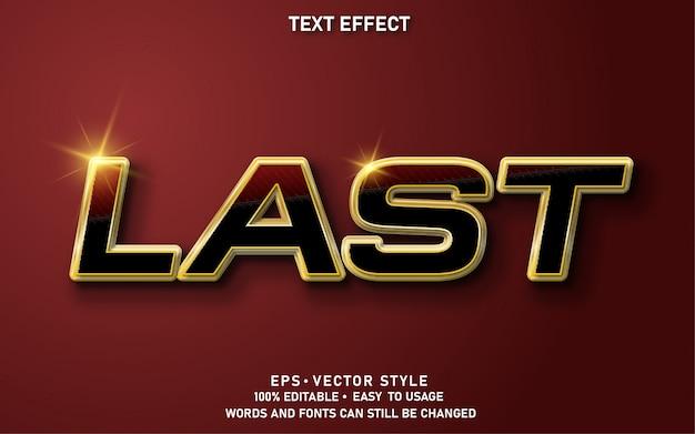Bewerkbaar teksteffect als laatste