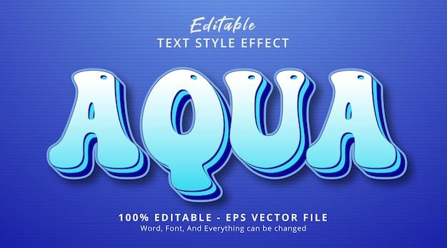 Bewerkbaar teksteffect, aqua-tekst op gelaagd blauw stijleffect