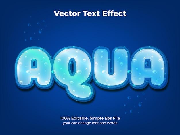 Bewerkbaar teksteffect aqua water tekststijl