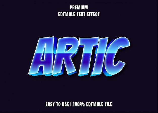 Bewerkbaar teksteffect - artic blue style