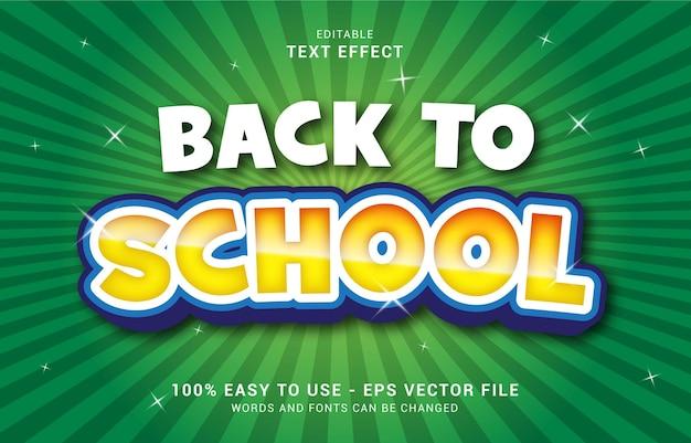 Bewerkbaar teksteffect, back to school-stijl kan worden gebruikt om titel te maken