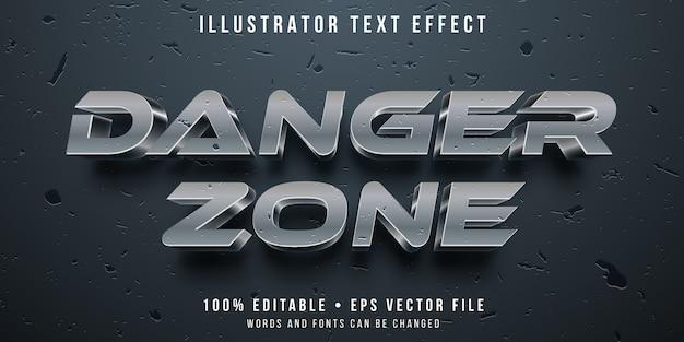 Bewerkbaar teksteffect - beschadigde metalen stijl