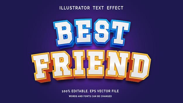 Bewerkbaar teksteffect beste vriendstijl