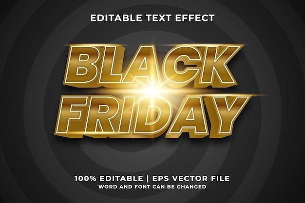 Bewerkbaar teksteffect - black friday-sjabloonstijl premium vector