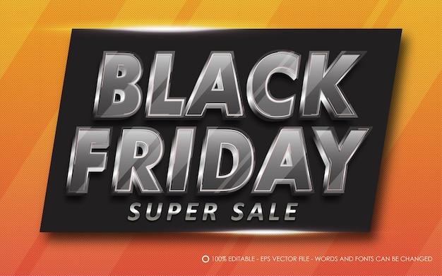 Bewerkbaar teksteffect, black friday super sale-stijlillustraties