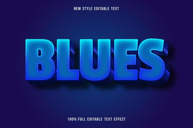 Bewerkbaar teksteffect blues kleur blauw gradatie