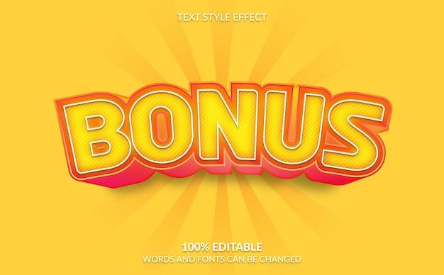Bewerkbaar teksteffect, bonus tekststijl