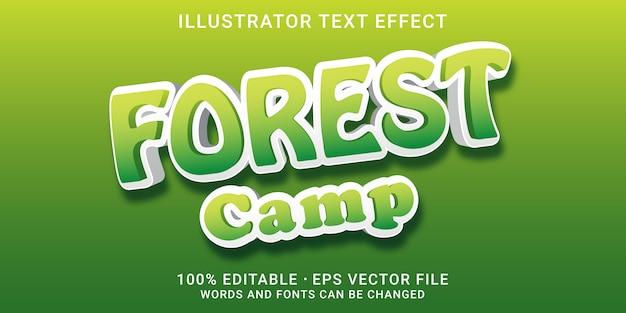 Bewerkbaar teksteffect - boskampstijl