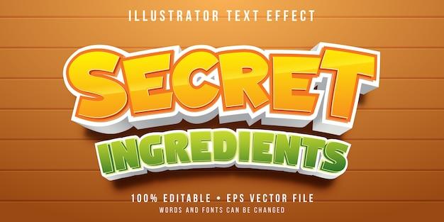 Bewerkbaar teksteffect - cartoon kookstijl