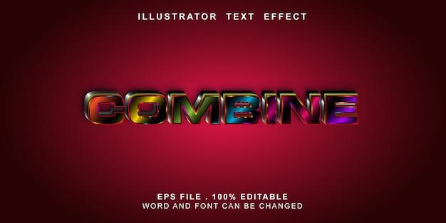 Bewerkbaar teksteffect combineren