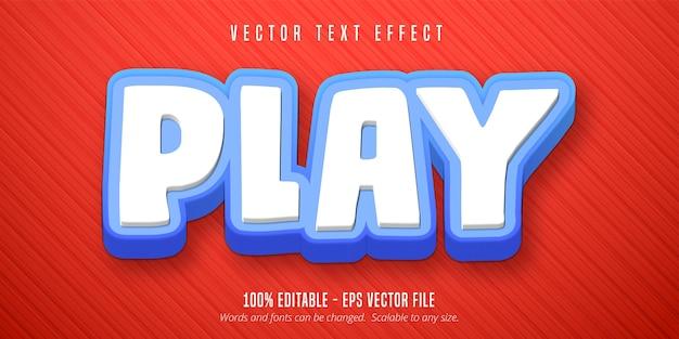 Bewerkbaar teksteffect concept