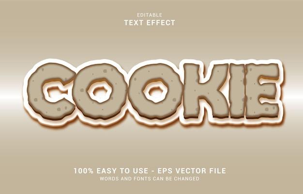 Bewerkbaar teksteffect, cookiestijl
