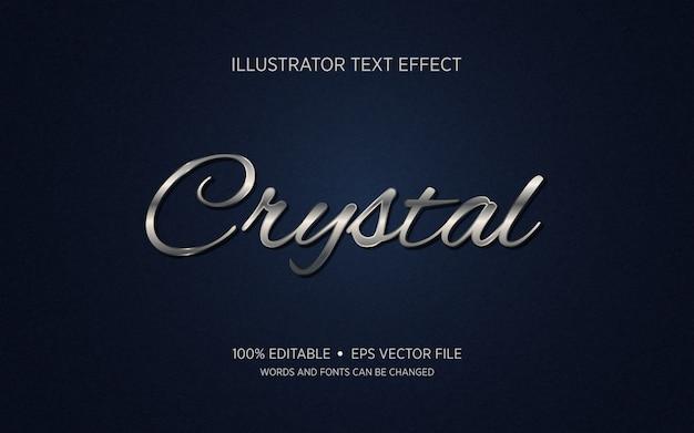 Bewerkbaar teksteffect - crystal