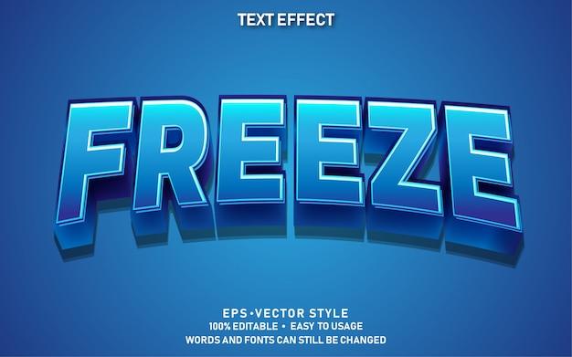 Bewerkbaar teksteffect cute freeze premium Premium Vector