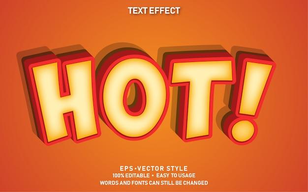 Bewerkbaar teksteffect cute hot