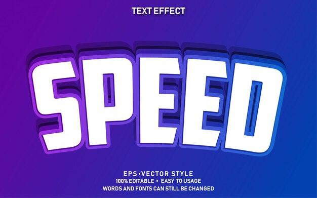 Bewerkbaar teksteffect cute speed premium