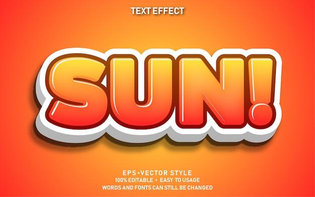 Bewerkbaar teksteffect cute sun premium