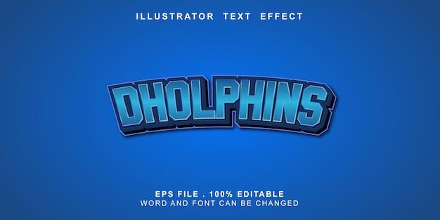 Bewerkbaar teksteffect dholphins