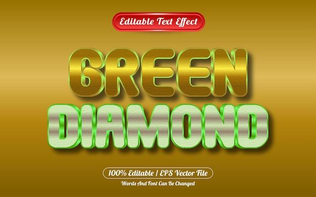 Bewerkbaar teksteffect diamant gouden stijl